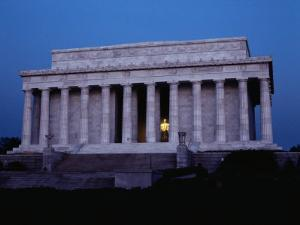 A View of the Lincoln Memorial at Dawn by Stephen St. John