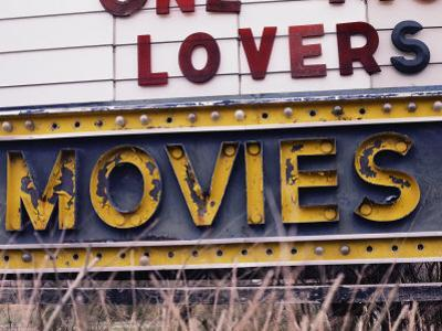 Close View of an Old Drive-In Theater Sign by Stephen St. John