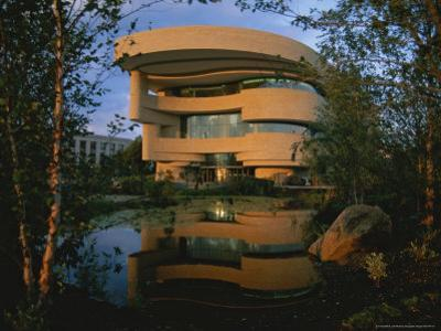 Early Light Glows on the New National Museum of the American Indian by Stephen St. John