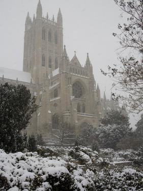 Heavy Snowfall Covers the Cathedral During the 'Blizzard of 2010' by Stephen St. John