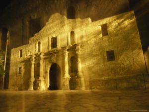 Night Time-Exposed Zoom Gives Haunting View of Texas' Historic Alamo by Stephen St. John