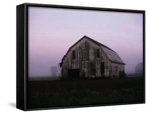 Pink Dawn Mist Around a Weather-Beaten Barn by Stephen St. John