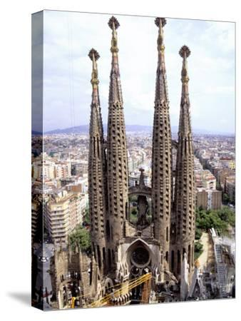 The Four Towers of Gaudi's Church of La Sagrada Familia by Stephen St. John