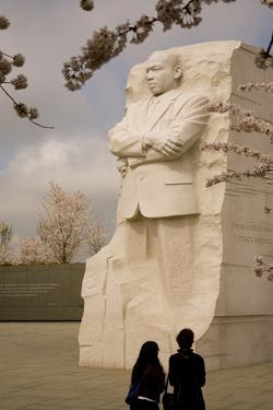 The National Memorial to Dr. Martin Luther King and Cherry Blossoms by Stephen St. John