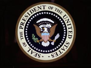 The Official Seal of the President on the Presidential Helicopter by Stephen St. John