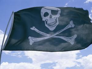 The Pirate Flag Known as the Jolly Roger or Skull and Crossbones by Stephen St. John