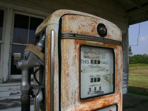 Vintage Gas Pump Recalls the Open American Road and Cheaper Prices by Stephen St. John