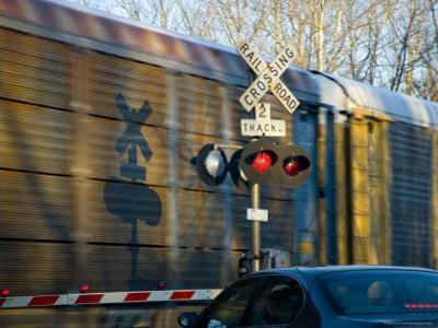 Warning Lights and Gates Save Lives at Train Crossings, Silver Spring, Maryland by Stephen St. John