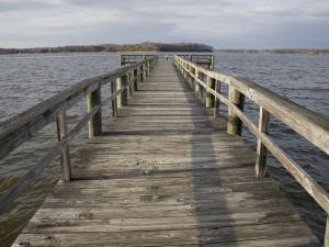 Weathered Pier Leads to the Chesapeake Bay by Stephen St. John