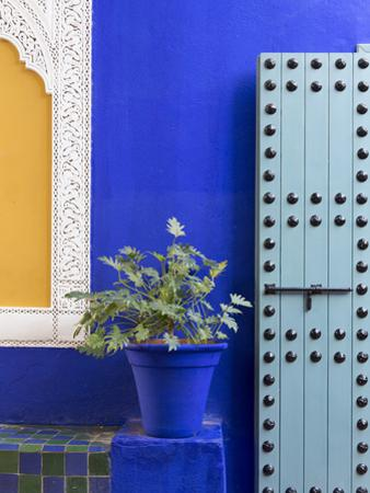 Blue Paintwork, Jardin Majorelle, Owned by Yves St. Laurent, Marrakech, Morocco by Stephen Studd