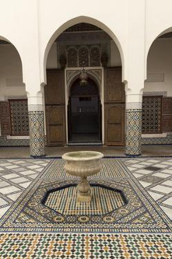 Courtyard, Museum of Marrakech, Medina, Marrakesh, Morocco, North Africa, Africa by Stephen Studd