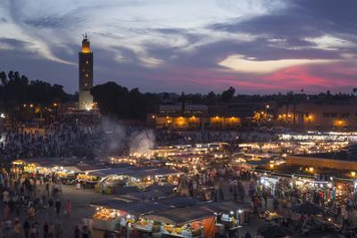 Djemaa El Fna Square and Koutoubia Mosque at Sunset by Stephen Studd