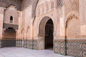 Doorway, Medersa Ali Ben Youssef (Madrasa Bin Yousuf), Medina, Marrakesh, Morocco by Stephen Studd