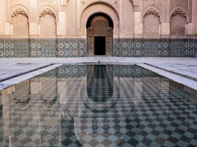 Reflections in the Courtyard Pool by Stephen Studd