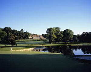 Baltusrol Golf Club, Hole 4, the pond at the clubhouse by Stephen Szurlej