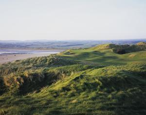 Lahinch Golf Club, fairway between dunes by Stephen Szurlej