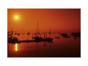 Rockland Harbor, Maine by Stephen Szurlej