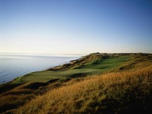 Whistling Straits Golf Club, Hole 13, coastline by Stephen Szurlej