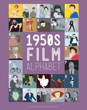 1950s Film Alphabet - A to Z by Stephen Wildish