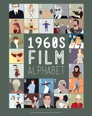 1960s Film Alphabet - A to Z by Stephen Wildish