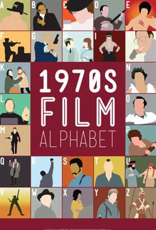 1970s Film Alphabet - A to Z by Stephen Wildish