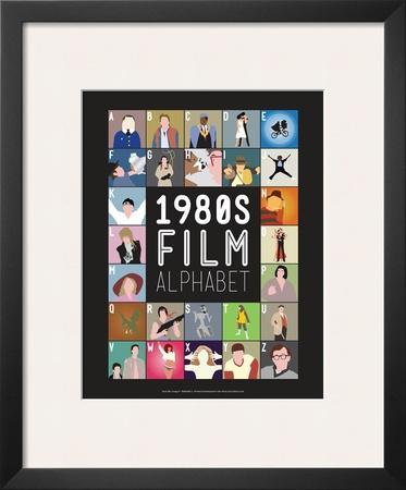 1980s Film Alphabet - A to Z by Stephen Wildish