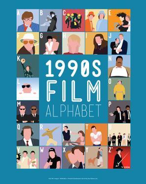 1990s Film Alphabet - A to Z by Stephen Wildish