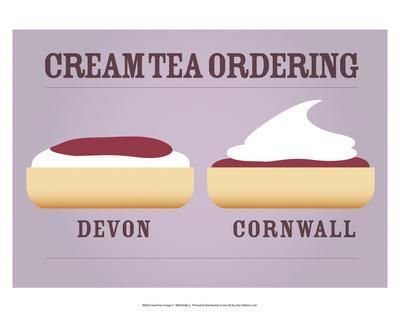 Cream Tea Ordering - Devon and Cornwall