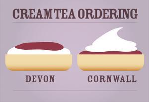 Cream Tea Ordering - Devon and Cornwall by Stephen Wildish