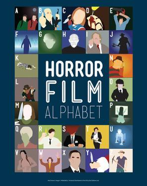 Horror Film Alphabet - A to Z by Stephen Wildish