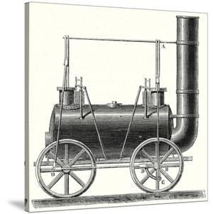 Stephenson's Locomotive with Coupled Wheels