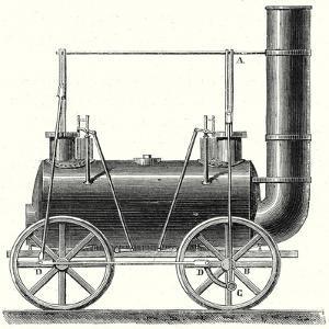 Stephenson's Locomotive with Coupled Wheels
