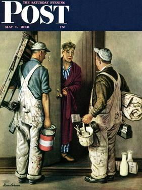 """""""Apartment Painters,"""" Saturday Evening Post Cover, May 1, 1948 by Stevan Dohanos"""