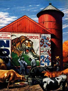 """""""Barnside Circus Poster,"""" August 4, 1945 by Stevan Dohanos"""