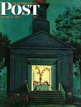 """""""Choir Practice,"""" Saturday Evening Post Cover, August 10, 1946 by Stevan Dohanos"""