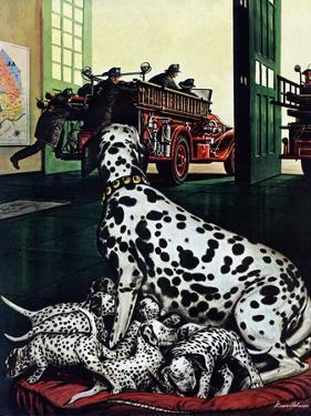 """Dalmatian and Pups,"" January 13, 1945 by Stevan Dohanos"