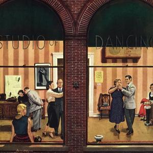 """""""Dancing Class"""", May 10, 1952 by Stevan Dohanos"""