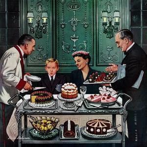 """Dessert Cart"", January 1, 1955 by Stevan Dohanos"