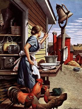 """Dinner Bell,"" October 21, 1944 by Stevan Dohanos"