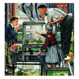 """""""Fish Aquarium"""", October 30, 1954 by Stevan Dohanos"""