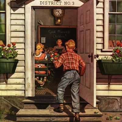 """Flowers for Teacher,"" September 7, 1946 by Stevan Dohanos"