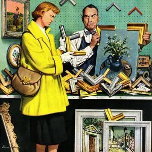 """Frame-Up"", April 30, 1955 by Stevan Dohanos"