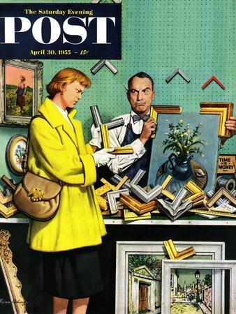 """""""Frame-Up"""" Saturday Evening Post Cover, April 30, 1955"""