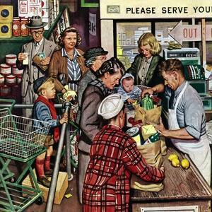"""Grocery LIne,"" November 13, 1948 by Stevan Dohanos"