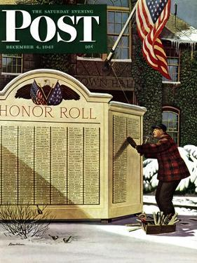 """Honoring the Dead,"" Saturday Evening Post Cover, December 4, 1943 by Stevan Dohanos"