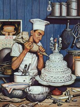 """""""Icing the Wedding Cake,"""" June 16, 1945 by Stevan Dohanos"""