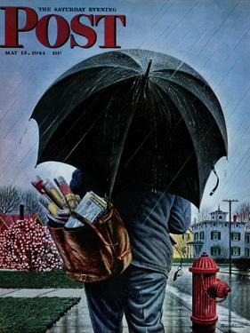 """""""Mailman,"""" Saturday Evening Post Cover, May 13, 1944 by Stevan Dohanos"""