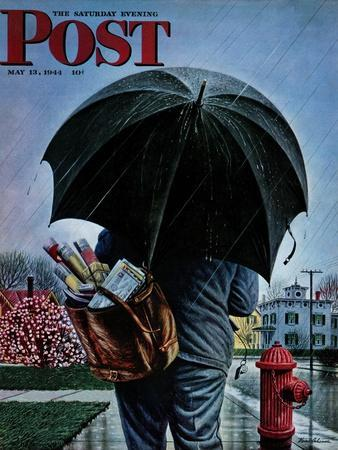 """""""Mailman,"""" Saturday Evening Post Cover, May 13, 1944"""