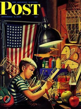 """""""Model Airplanes,"""" Saturday Evening Post Cover, December 9, 1944 by Stevan Dohanos"""