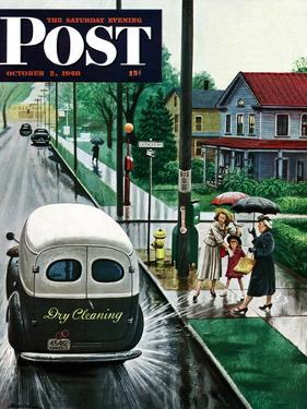 """""""Muddied by Dry Cleaning Truck,"""" Saturday Evening Post Cover, October 2, 1948 by Stevan Dohanos"""